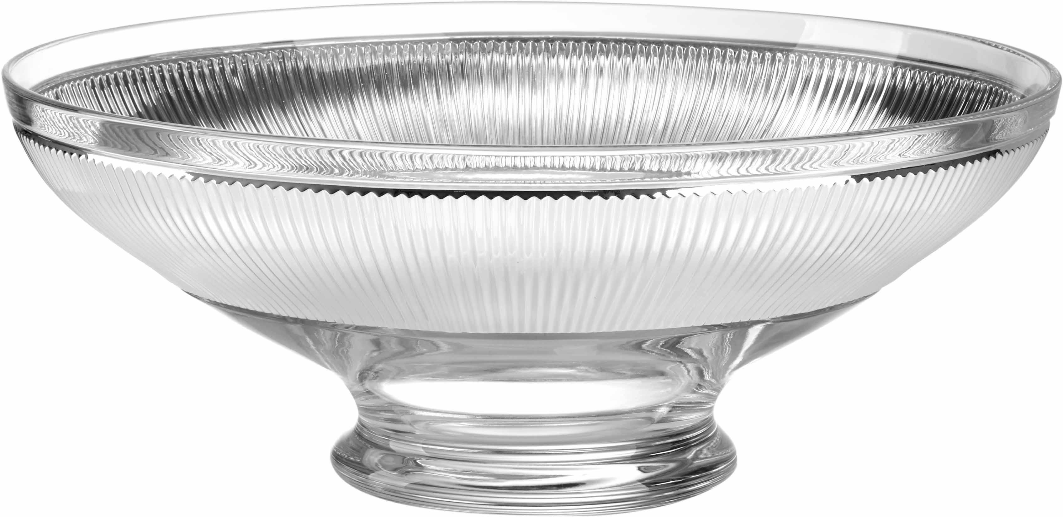 Centrotavola in cristallo inglese 40cm argento for Centrotavola in inglese